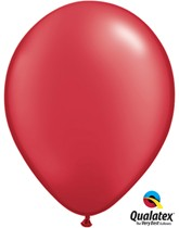 """11"""" Pearl Ruby Red Latex Balloons 100pk"""