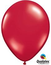 "Qualatex Jewel 11"" Ruby Red Latex Balloons 100pk"