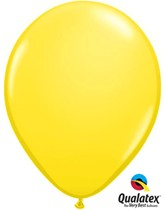 "Qualatex Standard 11"" Yellow Latex Balloons 100pk"