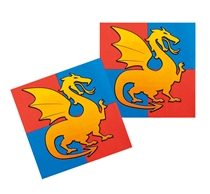 Knights & Dragons Paper Lunch Napkins 12pk