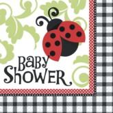 Ladybird Baby Shower Napkins 16pk