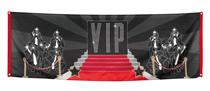 Hollywood VIP Polyester Backdrop Banner 2.2M x 74cm