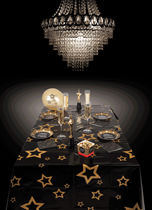 Hollywood VIP Gold Star Plastic Tablecover