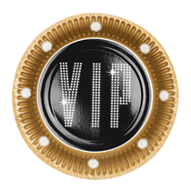 Hollywood VIP 23cm Paper Plates 6pk
