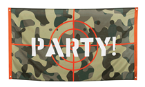 Camouflage Target Army Party Polyester Flag Backdrop 1.5M x 90cm
