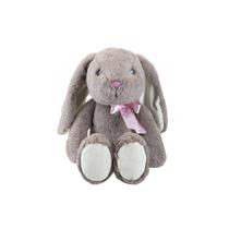 Easter Bunny Floppy Grey Rabbit Soft Toy 23cm
