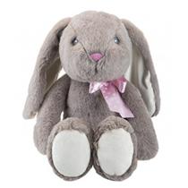 Easter Bunny Floppy Grey Rabbit Soft Toy 30cm