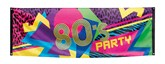 Giant 80's Party Polyester Banner 2.2M x 0.7M