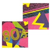 Brightly Coloured 80's Napkins 12pk