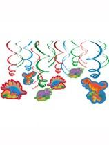Prehistoric Dinosaur Swirl Decorations 12pk