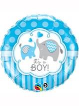 "It's a Boy Blue Elephants 18"" Foil Balloon"