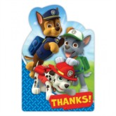 Paw Patrol Thank You Cards 8pk