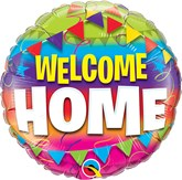 """Welcome Home Pennants 18"""" Foil Balloon"""