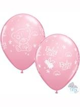 """Tiny Tatty Teddy Baby Girl 11"""" Latex Balloons 25pk"""