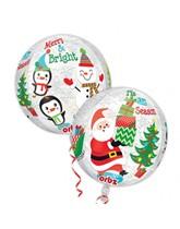 """Christmas Scene Clear 16"""" Orbz Foil Balloon"""