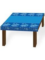 Blue Sparkle Happy Birthday Plastic Tablecover