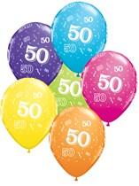 "Age 50 Latex 11"" Balloons 25pk"