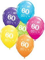 "Age 60 Latex 11"" Balloons 25pk"