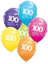 "Age 100 Latex 11"" Balloons 25pk"