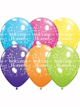 Assorted Welcome Home Stars-A-Round Latex Balloons 6pk