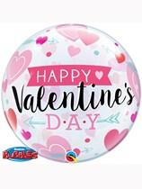 "Arrows & Hearts Happy Valentine's Day 22"" Bubble Balloon"