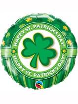 "Happy St. Patrick's Day Shamrock 18"" Foil Balloon"