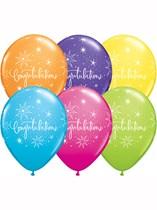 "11"" Assorted Congratulations Latex Balloons - 25pk"