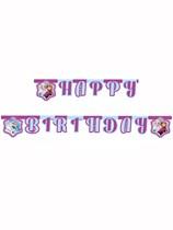 Frozen Northern Lights Happy Birthday Letter Banner