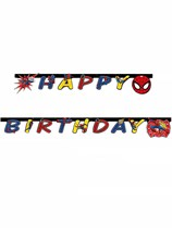 Ultimate Spiderman Happy Birthday Jointed Banner