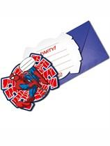 Ultimate Spiderman Invitations & Envelopes 6pk