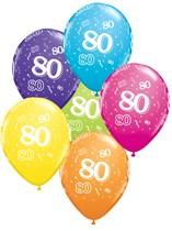 "Age 80 Latex 11"" Balloons 25pk"