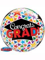 "Graduation Caps & Triangles 22"" Bubble Balloon"
