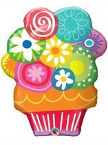 """Floral Circles Bouquet 34"""" Supershape Foil Balloon"""
