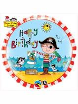 "Rachel Ellen Birthday Pirate 18"" Foil Balloon"