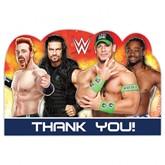 WWE Thank You Cards & Envelopes 8pk
