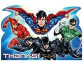 Justice League Thank You Cards & Envelopes 8pk