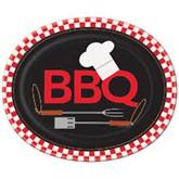 Backyard BBQ Large Paper Plates 8pk