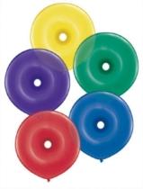"16"" Radiant Jewel Assortment GEO Donut Latex Balloons 50pk"