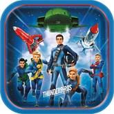 Thunderbirds Square Paper Plates 8pk