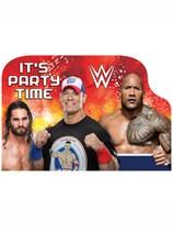 WWE Party Invitation Postcards 8pk