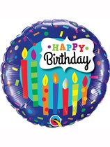 "Birthday Candles & Confetti 18"" Foil Balloon"