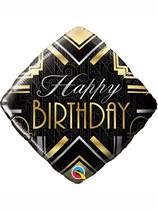 "Happy Birthday Gatsby Art Deco 18"" Foil Balloon"