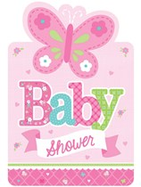 Welcome Baby Girl Baby Shower Invitations 8pk