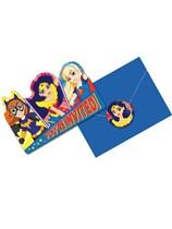 DC Superhero Girls Invitations & Envelopes 8pk