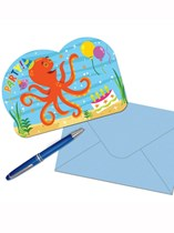Ocean Buddies Party Invitations & Envelopes 8pk