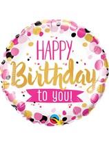 "Happy Birthday To You 18"" Foil Balloon"