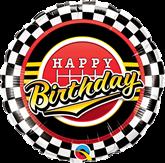 "Happy Birthday Checkered Pattern 18"" Foil Balloon"