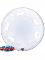 "Baby Footprints 24"" Deco Bubble Balloon"