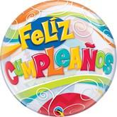 "Feliz Cumpleanos 22"" Party Bubble Balloon"
