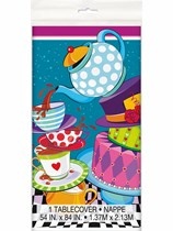 Mad Hatter Tea Party Plastic Tablecover
